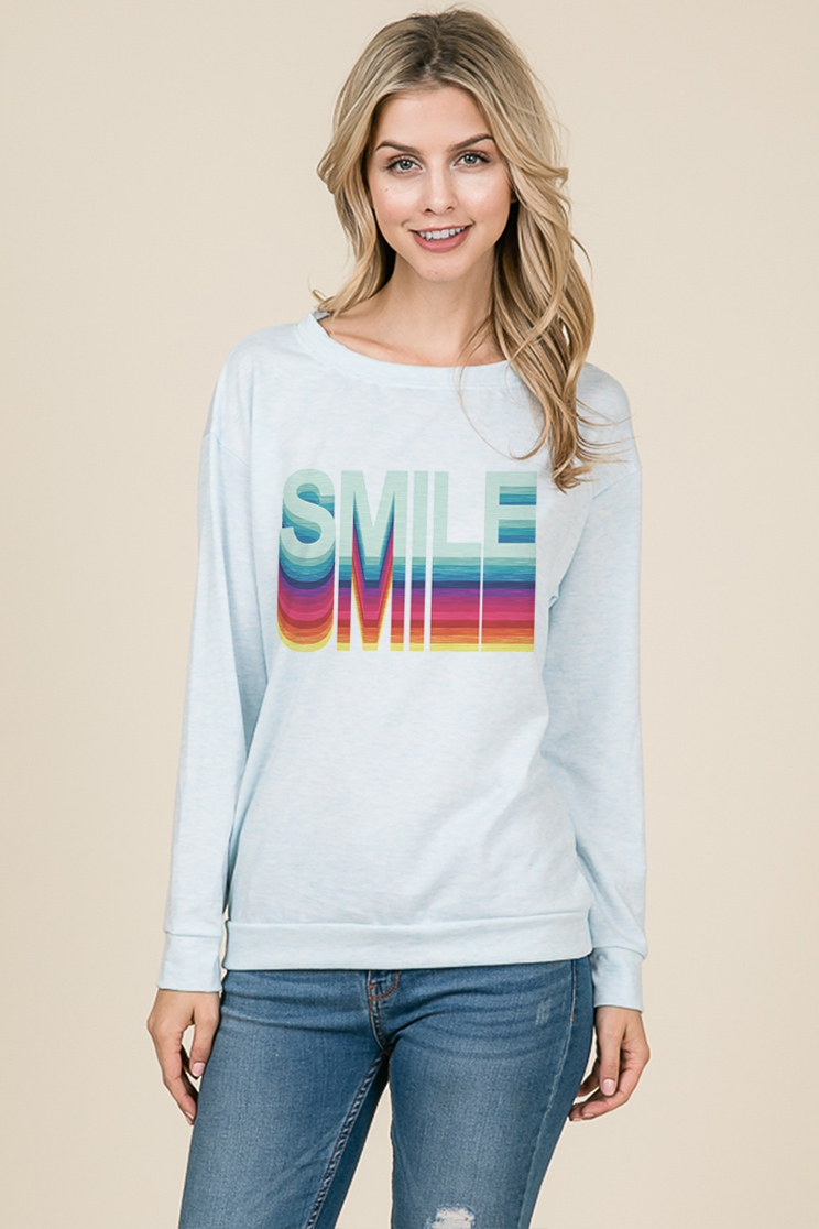 Smile long sleeve top - orangeshine.com