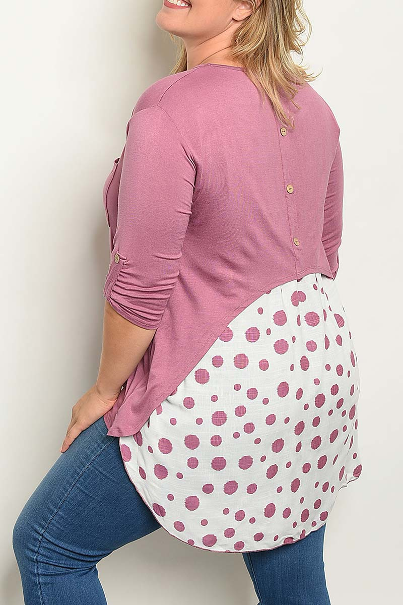 POLKA DOT PRINT CONTRAST COLOR BLOCK - orangeshine.com