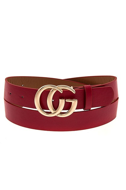 DOUBLE BUCKLE FASHION BELT - orangeshine.com
