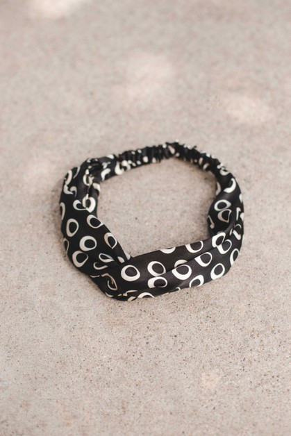 Satin Black Head Band - orangeshine.com