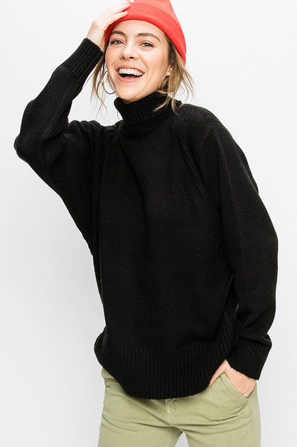 OVERSIZED TURTLENECK SWEATER - orangeshine.com