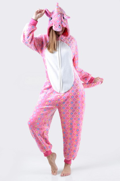 Pink Star Unicorn Onesie - orangeshine.com