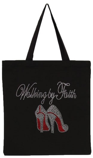 Walking by Faith with Red ShoES Tote - orangeshine.com