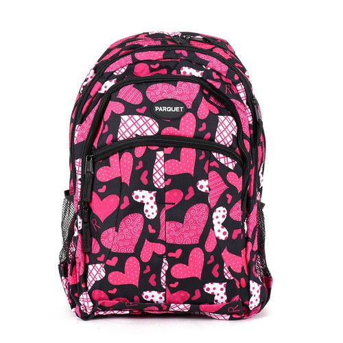 Pink Heart  Pattern Novelty Backpack - orangeshine.com