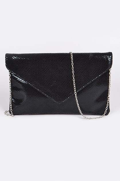 Gridded Snakeskin Mini Clutch - orangeshine.com