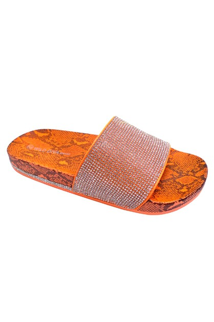 Flat Slipper Sandals - orangeshine.com