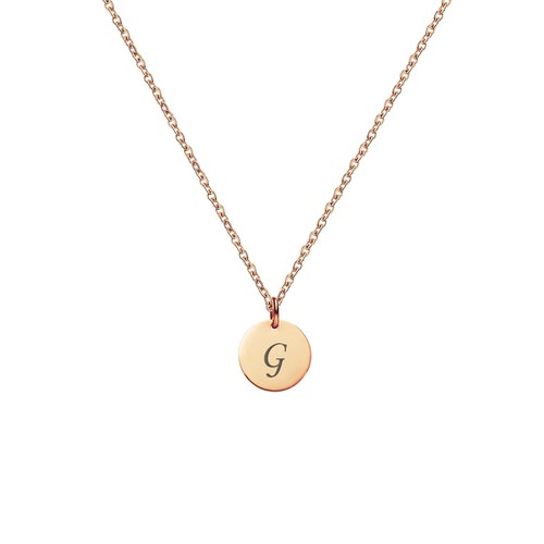 LETTER G INITIAL CHARM NECKLACE - orangeshine.com