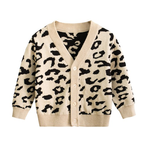 Toddler Leopard Cardigan - orangeshine.com