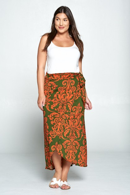 KNIT TULIP MAXI SKIRT - orangeshine.com