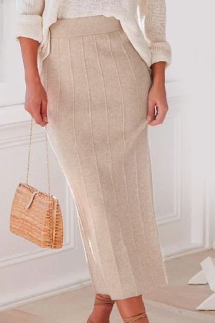 HIGH WAIST KNITTED WOMEN SKIRTS - orangeshine.com
