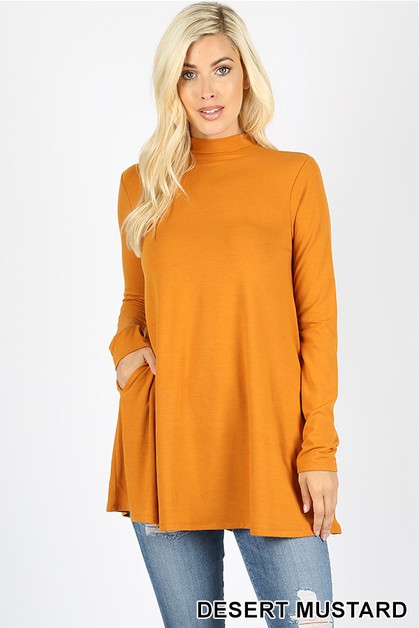 PREMIUM FABRIC MOCK NECK TOP - orangeshine.com