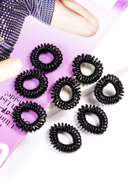 Spiral Mini Hair Ties  - orangeshine.com