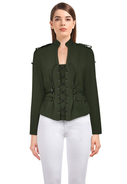 Plus Size Green Gothic Jacket - orangeshine.com
