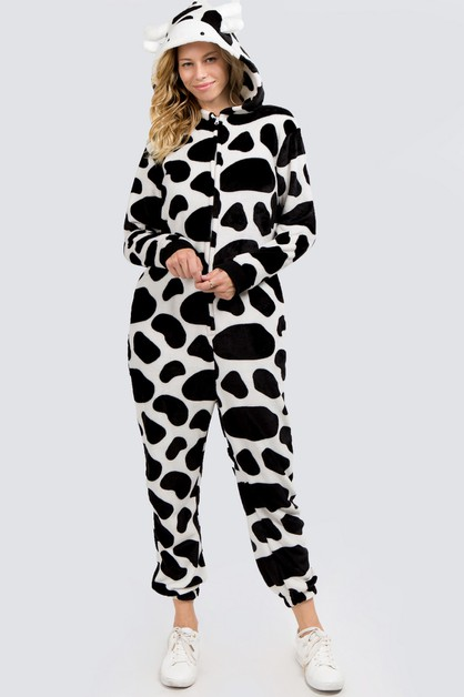 Plush Cow Animal Onesie Pajama - orangeshine.com