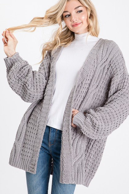 LONG SLEEVE CARDIGAN - orangeshine.com