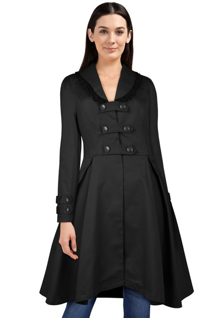 Plus Size Black Buckle Jacket - orangeshine.com