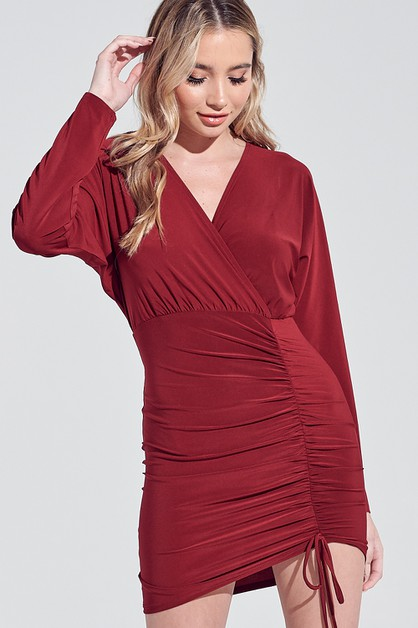 WRAPPED MINI DRESS - orangeshine.com
