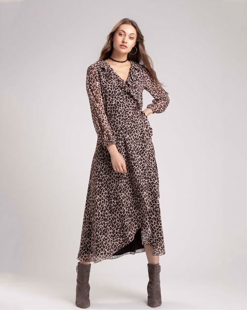 Natural Animal Maxi Dress - orangeshine.com