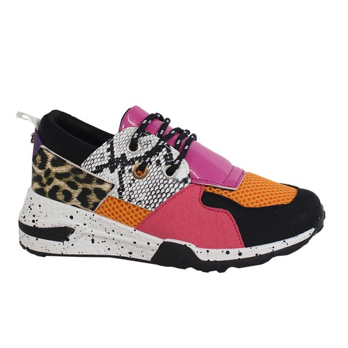 MULTI-COLORED LACE UP HEAVY SOLE SNE - orangeshine.com