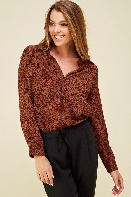 Leopard printed shirts top - orangeshine.com