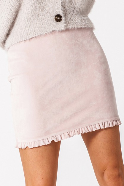 RUFFLE HEM MINI SKIRT - orangeshine.com
