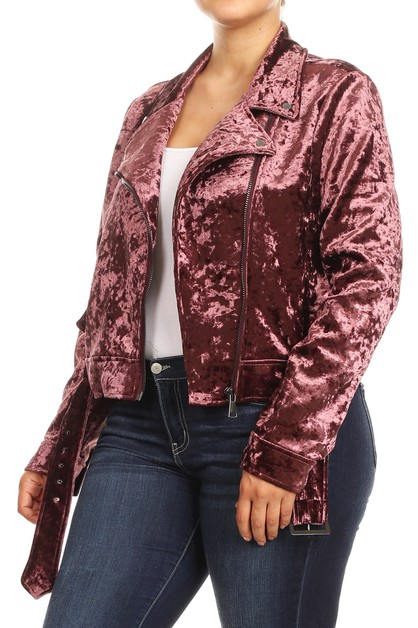 Plus Size Biker Jackets Moto Winter - orangeshine.com