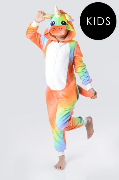 Tie-Dye Striped Unicorn Onesie - orangeshine.com