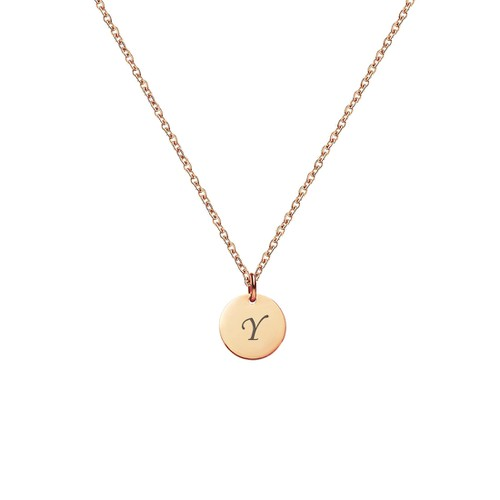 LETTER Y INITIAL CHARM NECKLACE - orangeshine.com