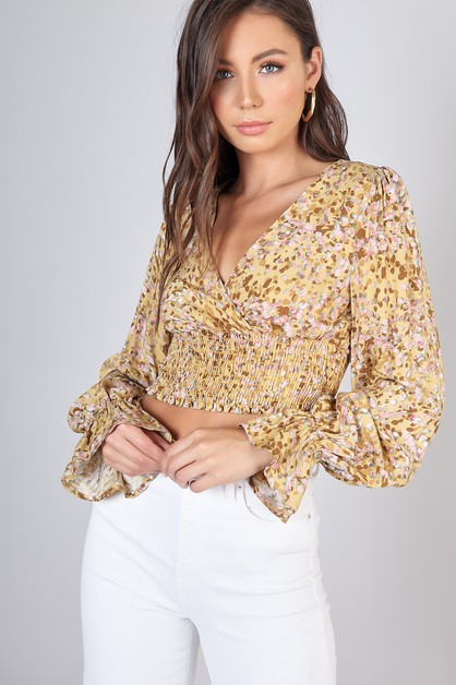 FLORAL CROP TOP - orangeshine.com