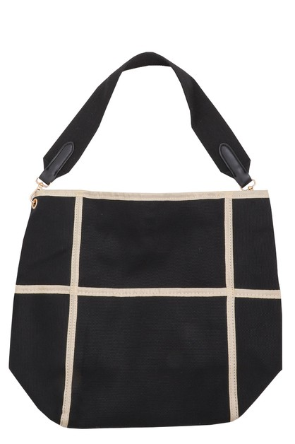 Large Grid Tote Bag - orangeshine.com