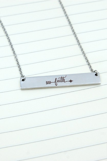 FAITH BAR NECKLACE - orangeshine.com