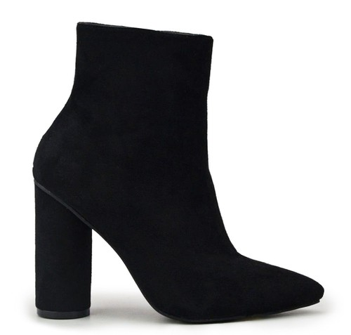 POINTY TOE HIGH HEEL ANKLE BOOTIE WI - orangeshine.com