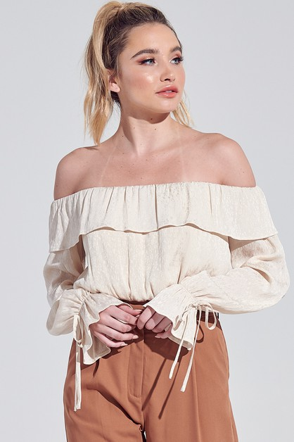 OFF THE SHOULDER TOP - orangeshine.com