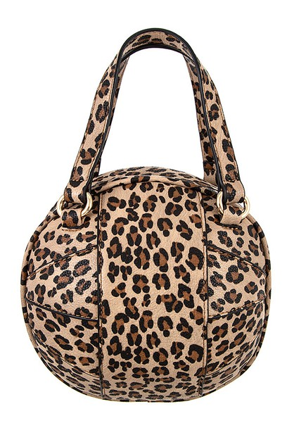 ANIMAL PRINT OVERSIZE SPHERE BAG - orangeshine.com