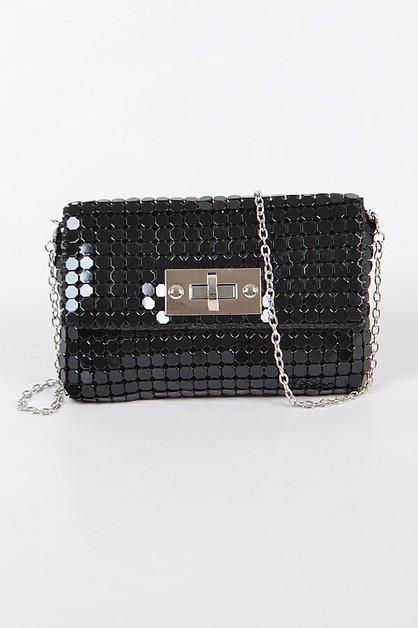 Linked Chain Clutch - orangeshine.com