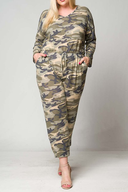 CAMO HACCI POCKET RELAX FIT JUMPSUIT - orangeshine.com