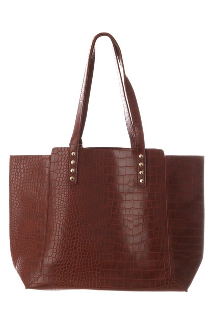 Faux Alligator Skin Tote Bag - orangeshine.com