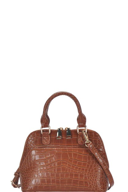 CUTE CROCO PATTERN DOMED SATCHEL - orangeshine.com