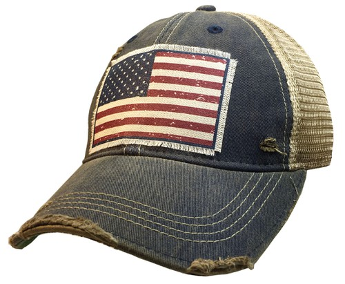 American Flag Trucker Hat - orangeshine.com