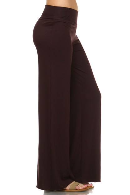 Wide Leg Palazzo Pants - Plus Size - orangeshine.com