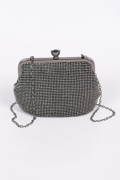 Mini Studded Rhinestone Clutch - orangeshine.com