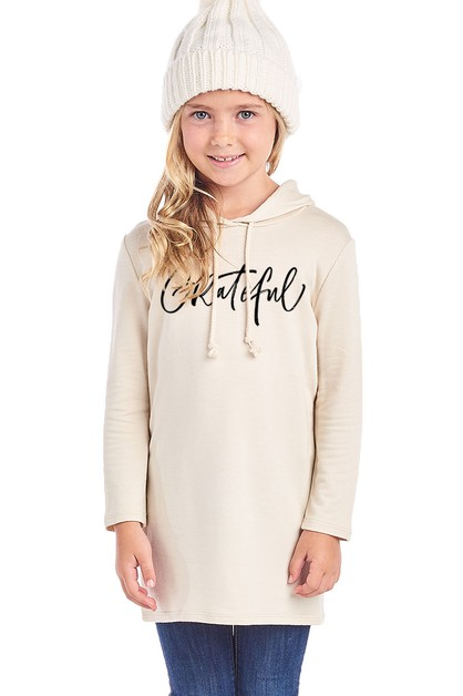 Kid French Terry Hoodie Sweat Tunic - orangeshine.com