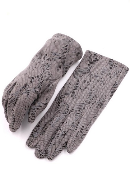 Snake Print Smart Glove - orangeshine.com