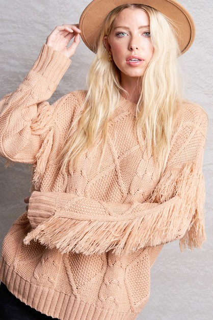 FRINGE ANNA  SWEATER - orangeshine.com