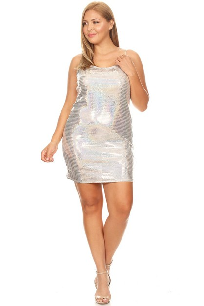 Metallic Bodycon Minidress  - orangeshine.com