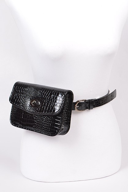 Twist Clasp Fanny Pack PLUS SIZE - orangeshine.com
