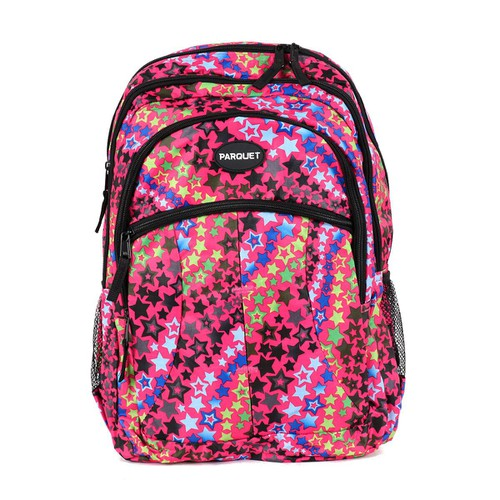 Star Pattern Pink Novelty Backpack - orangeshine.com