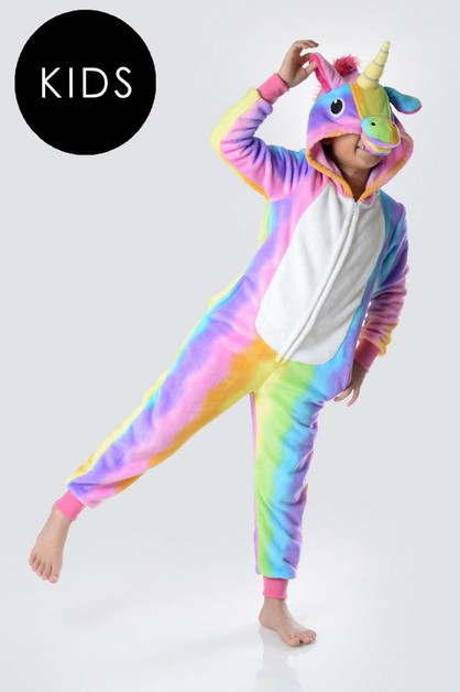 Rainbow Stripe Unicorn Onesie - orangeshine.com