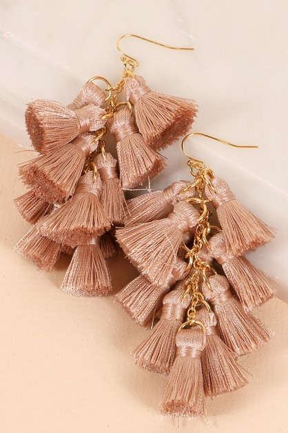 Mini Tassels Dangling Earrings - orangeshine.com