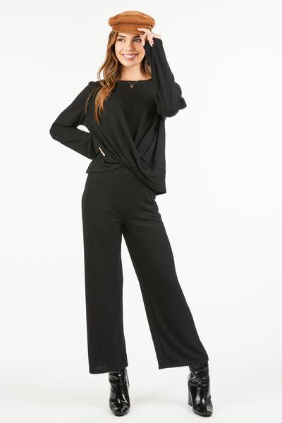 SIMPLE SOLID WIDE PANTS  - orangeshine.com